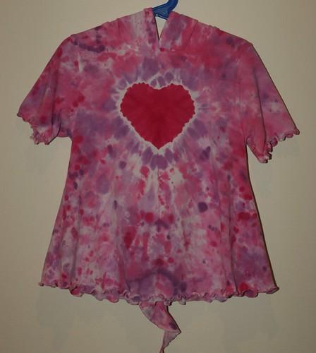 Tie Dye Heart Jule Spiral hoodie