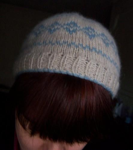 hat on