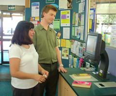 Self Check Station at Engadine Library