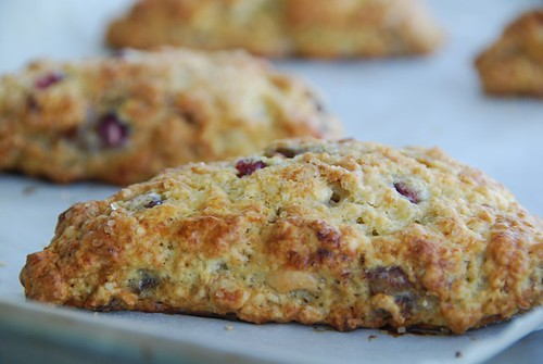 Low-Fat Lemony Medjool Date and Pomegranate Scones