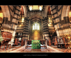 Save a Prayer :: HDR (:: Artie | Photography ::) Tags: classic church architecture photoshop canon table design sandstone shine cathedral cs2 tripod gothic stpaul australia melbourne wideangle stainedglass victoria symmetry altar 1020mm hdr stpaulcathedral artie 3xp sigmalens photomatix tonemapping tonemap 400d rebelxti complicating