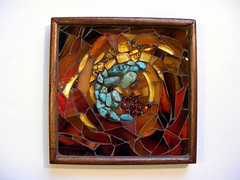 Mosaic box with turquoise (stiglice - Judit) Tags: glass box mosaic turquoise bead mosaicchallenge