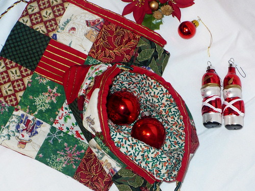 Christmas patchwork bags