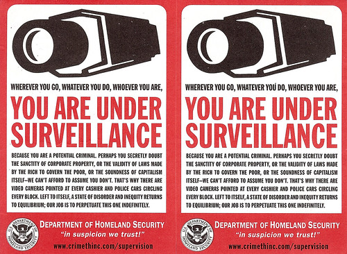 You Are Under Surveillance Homeland Security Sticker x2