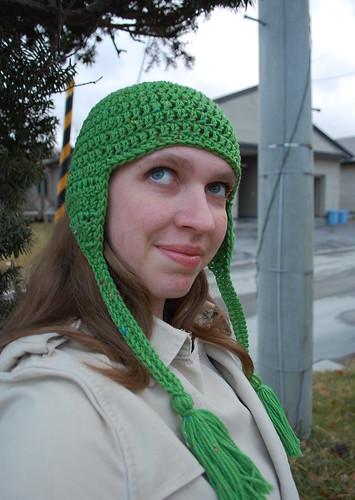 kirsten tasseled hat free crochet pattern