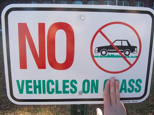 No Vehicles on Ass