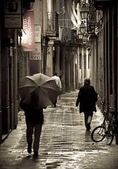 (Maria Artigas) Tags: barcelona reflection sepia reflejo otoo reflejos raval tardor virado mria 20tffotografiadecalle