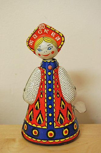 folk tin toy