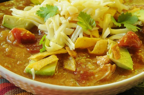 tortilla soup closeup