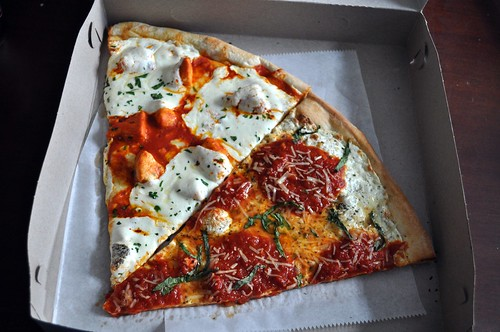 Buffalo Slice and Margherita Slice