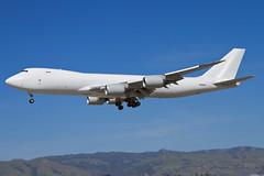 N6009F (buzz100ca) Tags: california test airplane flying airport san experimental aircraft aviation jose flight cargo landing international airline sjc boeing arrival freight 747 freighter airlinersnet ksjc 7478 n6009f 7478f 7478kzfscd
