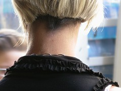 Does she needs to clean her nape? 4 (nick04144) Tags: bob blond nape