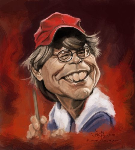 digital caricature of Stephen King - 2