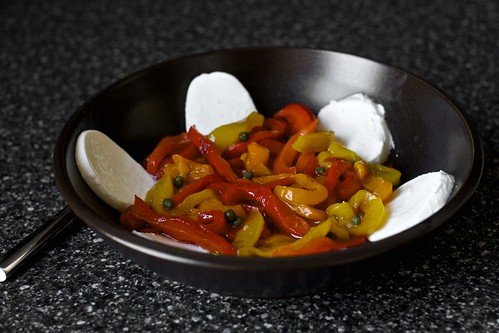 roasted peppers with capers and mozzarella | smitten kitchen