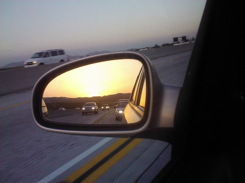 Driving during sunset