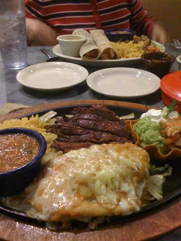Ninfas Mexican dinner