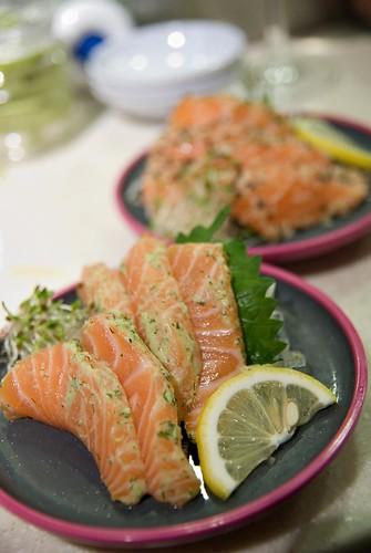 Yo! Sushi Dill & Wasabi Salmon Sashimi