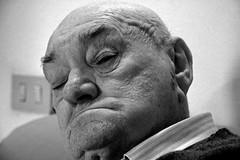 Istanti di mio nonno Giuseppe (3) (bellimarco) Tags: old white man black canon hand grandfather potrait bianco ritratto nero nonno vecchio anziano rughe ruga 40d