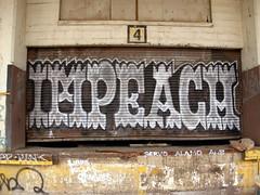 Detroit graffiti (ExcuseMySarcasm) Tags: urban streetart art mi graffiti michigan detroit graffito impeach graffitis swl