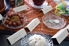 Our Persian New Year Table (funkaoshi) Tags: digitalrebelxt persiannewyear canon28mmf18usm narooz