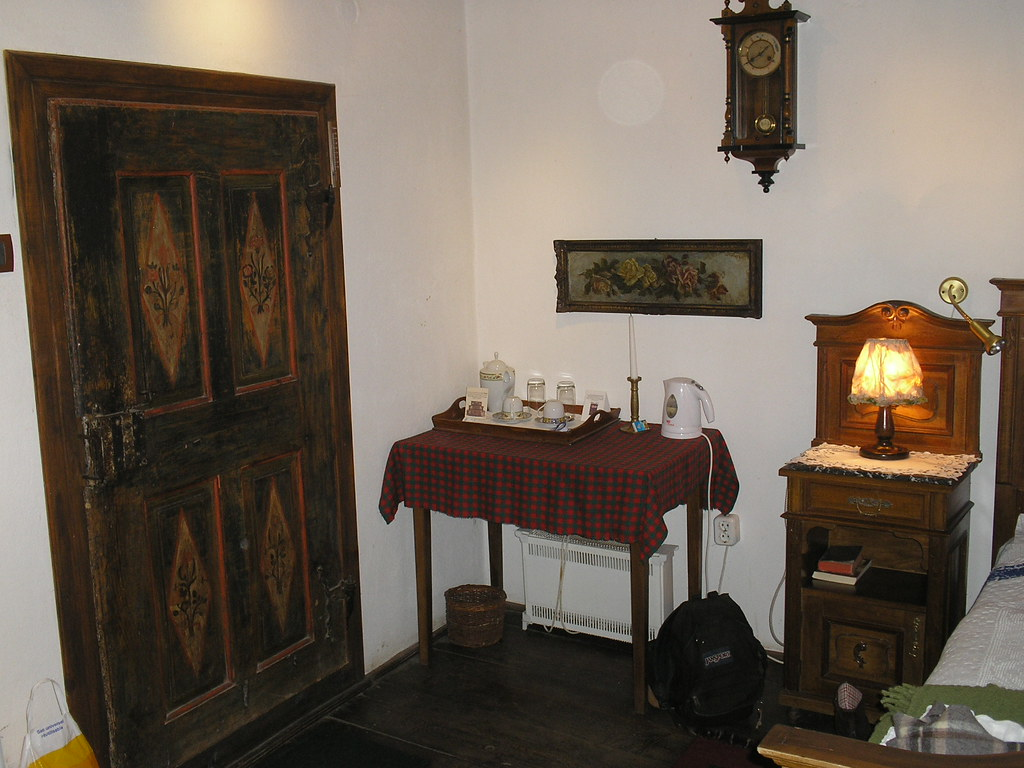 Coffee table & nightstand, Count Kalnoky guestroom, Miclosoara/Miklósvár, Romania