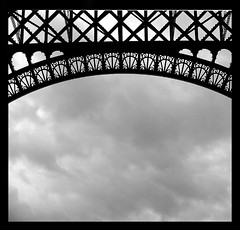 Eiffel Tower lace (andreizinha) Tags: blackandwhite bw paris france blackwhite europe eiffeltower toureiffel pa blackwhitephotos andreizinha87 franice