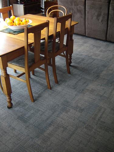 Evan's shot of new carpet