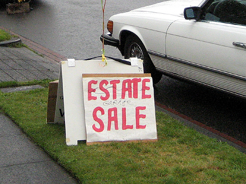estate sale. two estate/garage sales.
