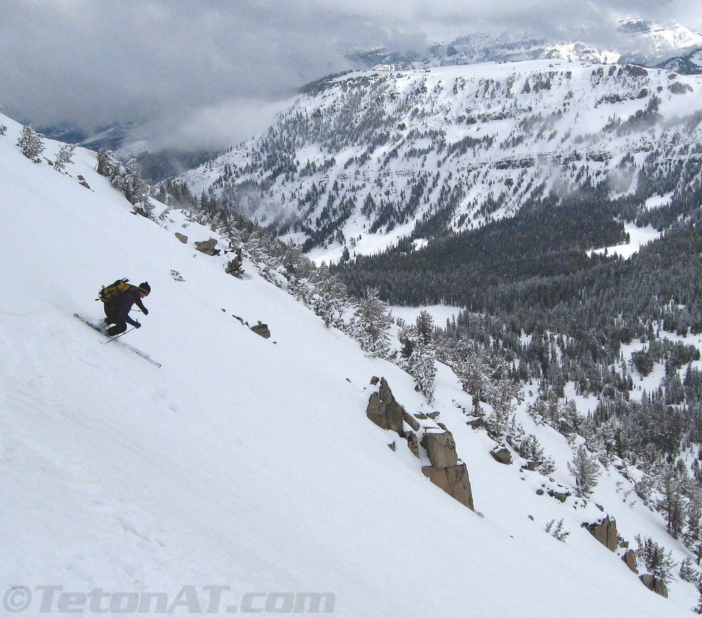Skiing above Sheep Creek