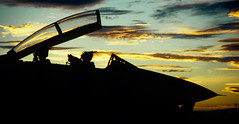 Tomcat Sunset (270_Fan) Tags: sunset clouds airplane nikon fighter f14 nevada navy jet canopy fallon navalairstation grumman navalaviation fe2 vf211