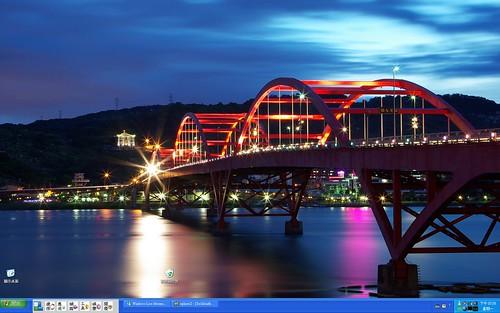 我的電腦桌布—關渡大橋