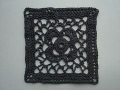 grey square (Fluxx) Tags: square crochet craft swap granny grannysquare