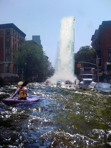 First Avenue's NYC East Village Waterfall