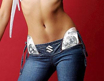 Swiftka v jeansoch