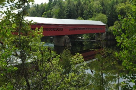 Covered bridge in Wakefield Quebec