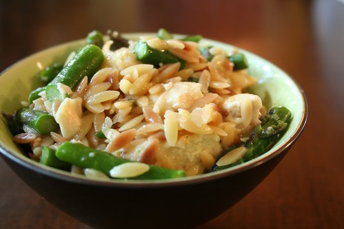 chicken with orzo and asparagus