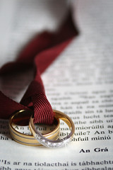 Cor 13 (Love) (rcesnr) Tags: wedding love gold book tie diamond sparkle bands rings page bible ribbon passage 13 gra chapter weddingrings bind corinthians