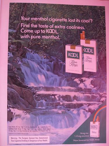 реклама сигарет kool menthol