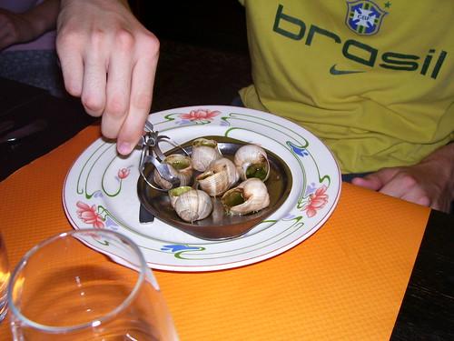 Snails. Yum Yum