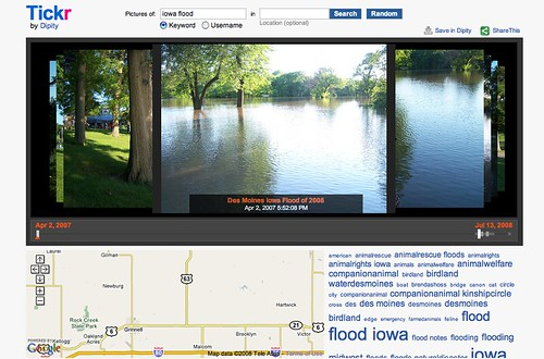 Dipity: Tickr: Iowa Flood