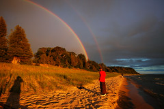 the most amazing rainbow (double) i've ever seen (snapstill studio) Tags: leland michigan lakemichigan greatlakes northmanitouisland sleepingbear leelanau