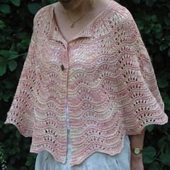 Lake of the Woods (emmajanemaple) Tags: pink knitting silk yarn gift tulip shawl lakeofthewoods capelet sundara aransilkymerino ilgaleja