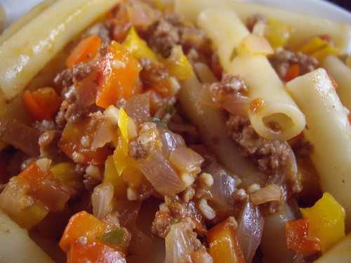 Abruzzese Lamb and Red Pepper Ragu with Ziti