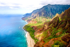 na pali coast by air (matt-pearson) Tags: hawaii coast honeymoon ride sony na helicopter 200 kauai alpha a200 pali cotcmostfavorited sonyalphadslra200