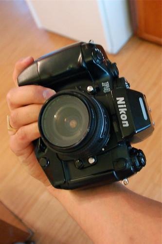 Derek's Nikon F4s - vertical grip