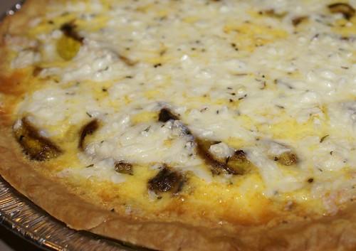 squash mozzarella thyme quiche