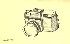 holga (TimWitt) Tags: camera pen sketchy holga sketchbook richmond vcu pitt molskine