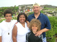 IM family at ruins in Tulum