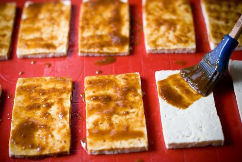 Smokey Miso Tofu - Basting