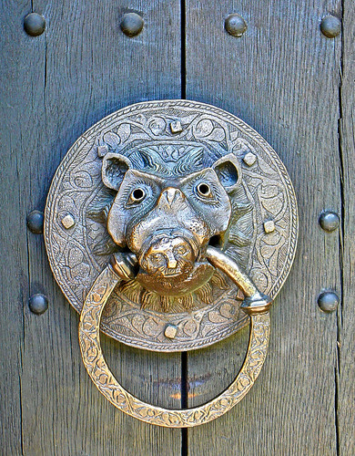 closing ring. quot;closing ringquot; on the south door of Adel church. Reproduction of the 13th